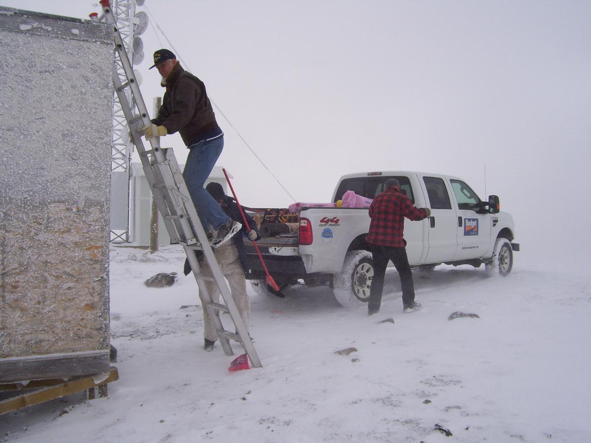 Bill testing the ladder.