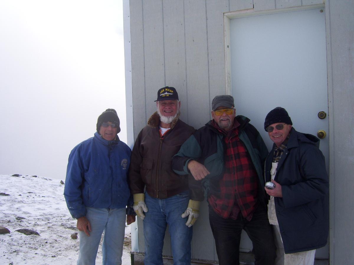 The crew, Robin Sims, Bill Hood, Gary Young, Barry Robinson .