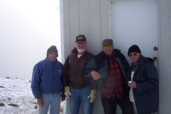 The crew, Robin Sims, Bill Hood, Gary Young, Barry Robinson .